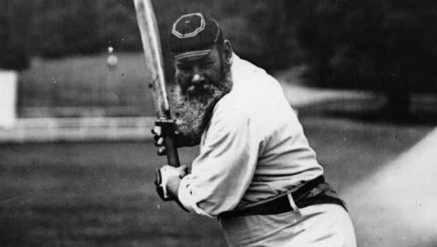 WG Grace helped healed Charlie Turner's dislicated thumb to help him continue with the match © Getty Images