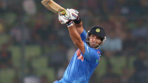 Yuvraj Singh (above) will contest with Usain Bolt at Bangalore in early September © Getty Images