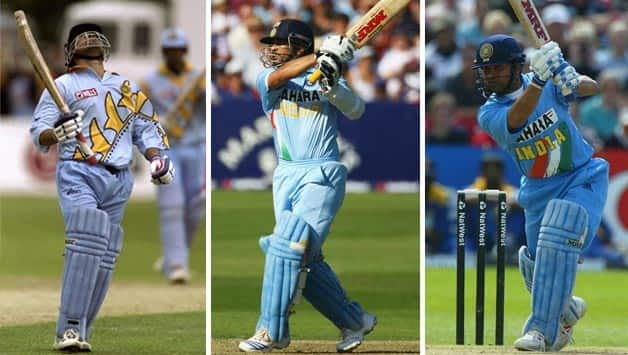 (From Left) 1999, 2002 and 2007... Sachin Tendulkar © Getty Images