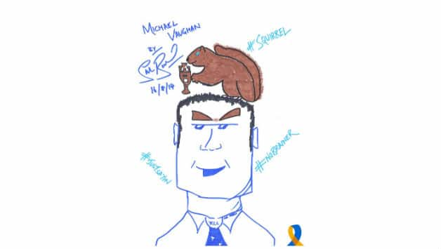 Michael Vaughan as drawn by Start Broad. Picture Courtesy: Cricket United