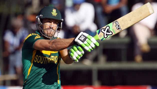 Faf du Plessis emerged the top-scored for the Proteas with an innings of 84 from 110 balls which helped rescue his side from a disastrous start © AFP