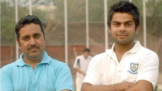 Virat Kohli (r) with his coach in his early day © Official Facebbok page of Virat Kohli