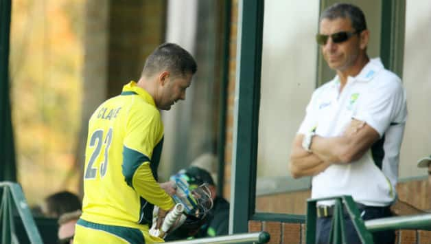 Michael Clarke walked out retired hurt in the fourth One-Day International (ODI) against South Africa © AFP