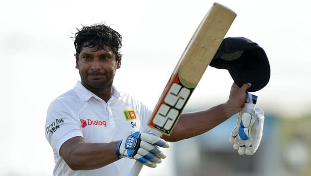 Sri-Lankan-cricketer-Kumar-Sangakkara-leaves-the-field-after-being-dismissed-at-221-runs-during-the-fourth-day-of-the-opening-Test-match-between-Sri-Lanka-and-Pakistan
