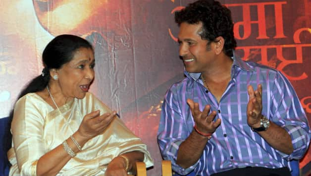 Sachin Tendulkar praises Asha Bhosle at Music launch of Marathi film Mai