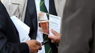 Tony Greig's memorial service in London