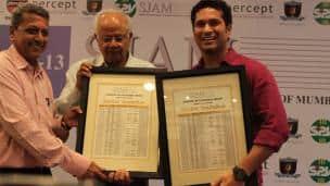 Sachin Tendulkar, other sportspersons honoured at SJAM Awards 2012-13