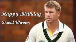 Happy Birthday, David Warner!
