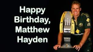 Happy Birthday, Matthew Hayden!