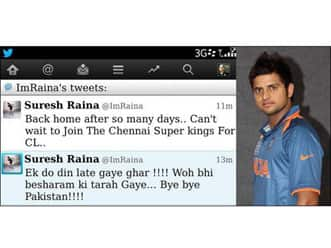Suresh Raina's nephew clarifies,'Tweet was for India & not Pakistan'!