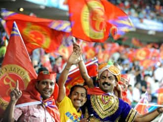 Fans flock in to support home team RCB