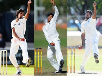 Important that Ishant, Yadav and Aaron get to bowl on helpful tracks at home