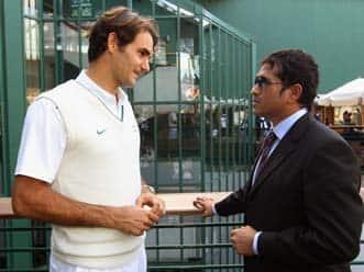 Tendulkar meets Tennis star Federer in London