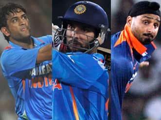 Dhoni, Yuvraj & Harbhajan look good; Cards favour Indian win over Australia