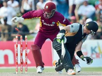 West Indies crush New Zealand in first T20 International match at Florida