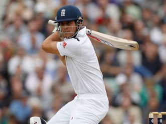 Alastair Cook, Jonathan Trott steady England after early blow