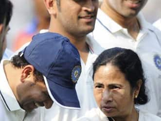 Mamta Banerjee meets Team India at Eden Gardens