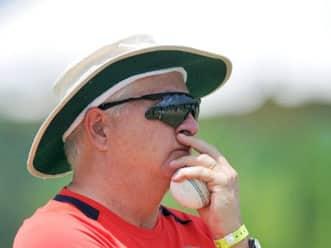 Indian coach Duncan Fletcher speaks after day 1 of SCG Test