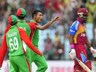 West Indies bowled out for 61 against Bangladesh