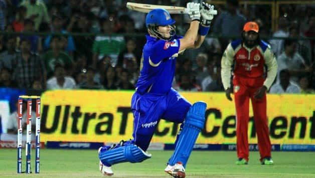 IPL 2013: Rajasthan Royals celebrate after win against Bangalore