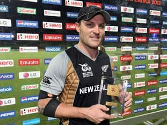 Brendon McCullum speaks after his record century