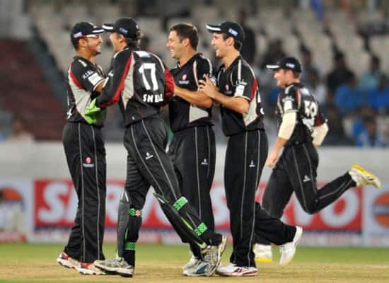 Somerset vs Auckland Aces, CLT20 Qualifiers (Sep 20, 2011)