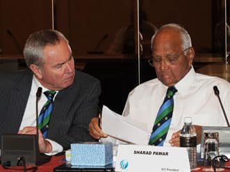 Alan Isaac replaces Sharad Pawar as ICC President