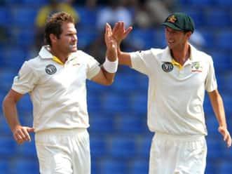 Australia dominate frail Lankans on day one
