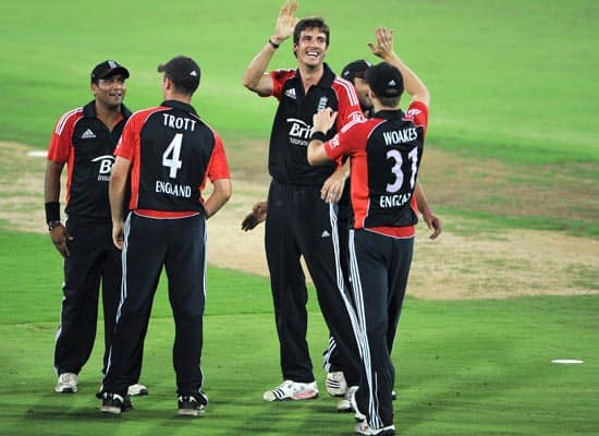 England XI vs Hyderabad XI practice match (Oct 8, 2011)