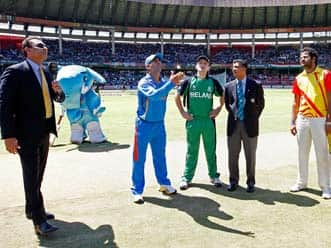 India win the toss and opt to bowl against Ireland