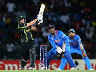 ICC World T20 2012: Shane Watson, David Warner pummel Indian bowlers
