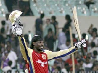 Gayle – proving a point to the IPL franchisees with a blistering century?