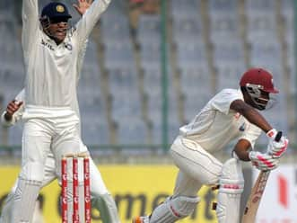 West Indies struggle at lunch as Ashwin strikes