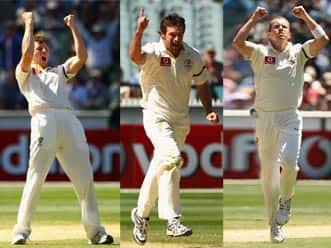 Pattinson, Hilfenhaus & Siddle - pace bowling force