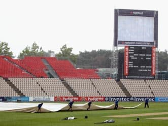 Wet outfield delays start of India-Chairman's XI warm-up match