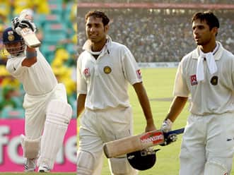 A Tendulkar hundred at Adelaide with Dravid & Laxman in great support roles!