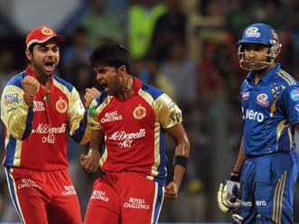 Disciplined Bangalore restrict Mumbai to 141