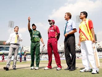 West Indies win toss, elect to bat against Pakistan