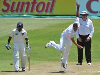 Debutante Marchant de Lange's picks up seven wickets against Sri Lanka