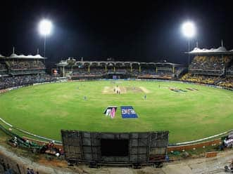 Crowds throng to watch CCL match at Chidambaram Stadium