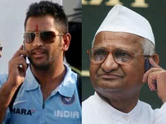 MS Dhoni playing key role for helping Anna Hazare.
