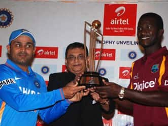 India-West Indies ODI series trophy unveiled
