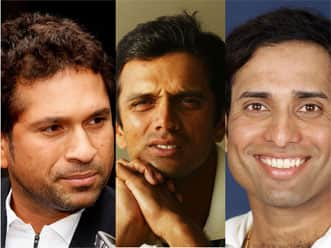 Sachin Tendulkar, Rahul Dravid, and VVS Laxman — a heady cocktail of genius
