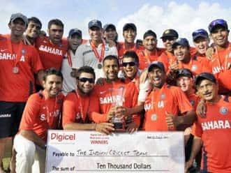 Windies secure draw; India win series