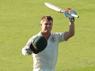 David Warner addresses the media after day one of third Test