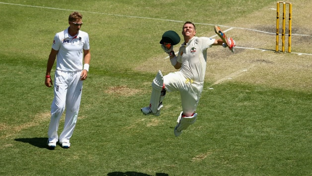 Ashes 2013-14: David Warner scores first Ashes ton