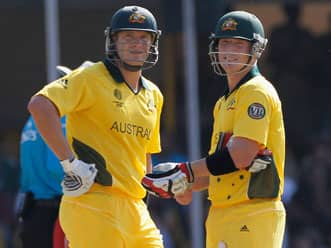Half centuries for Watson & Haddin; NZ press self-destruct button