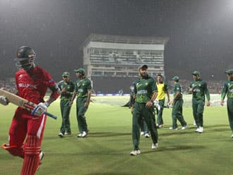 Pakistan set a target of 162 in 38 overs in rain-curtailed match