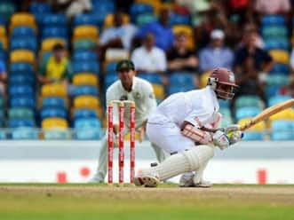 Shivnarine Chanderpaul's fifty takes West Indies close to 300
