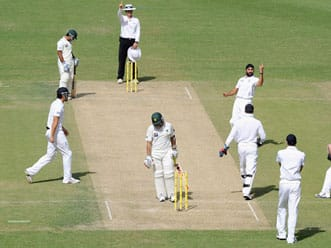 Pakistan lose openers after England take lead on day two
